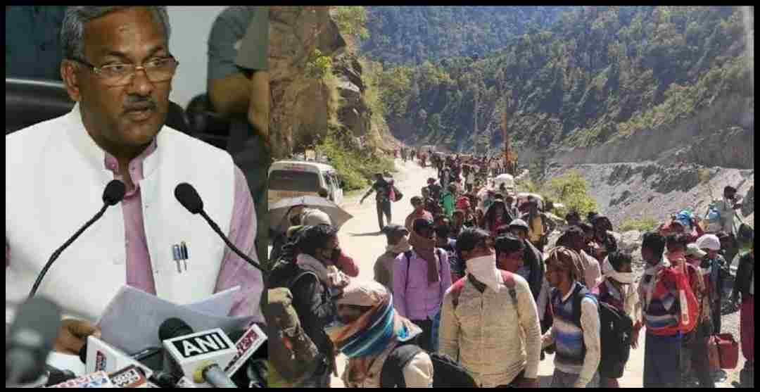 "alt=""uttarakhand migrant people can not came to their home"""