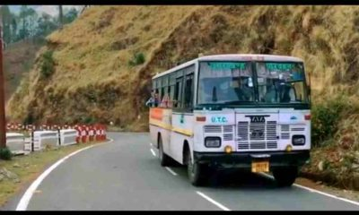 "alt=""Uttarakhand transport corporation bus started in lockdown"""