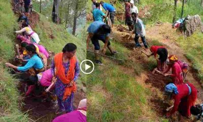 "alt=""uttarakhand youth cuting motar road in pithoragarh"""