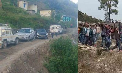 A taxi van first time arrived in the Chamoli district