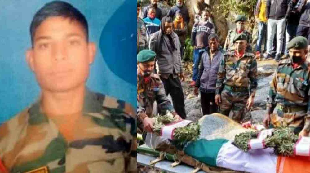 Garhwal Rifle soldier jitendra panwar died in road accident at rudraprayag