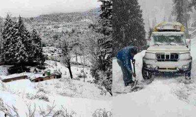 Uttarakhand news: snowfall in uttarakhand hills area including Munsyari. Weather forecast for next three days.